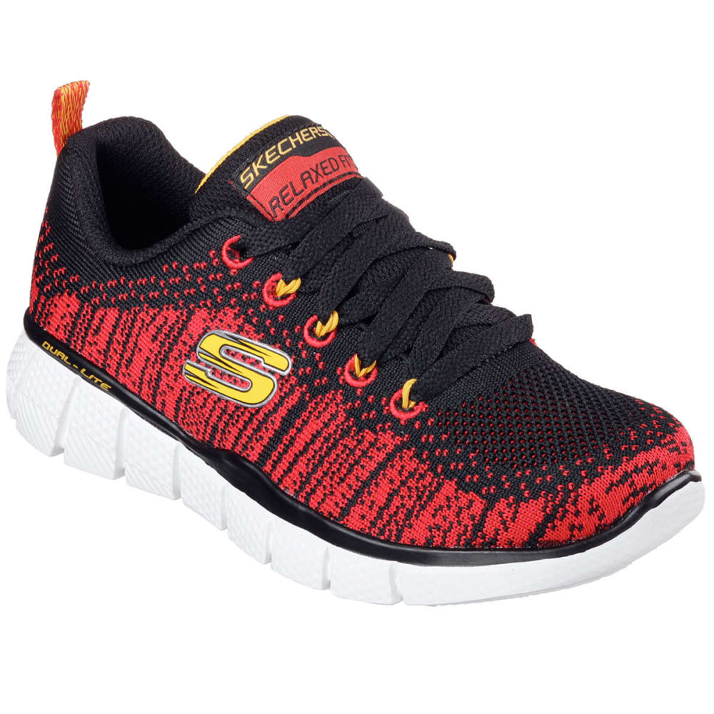 SKECHERS Boys' Equalizer 2.0 - Perfect Game Sneakers - BLACK