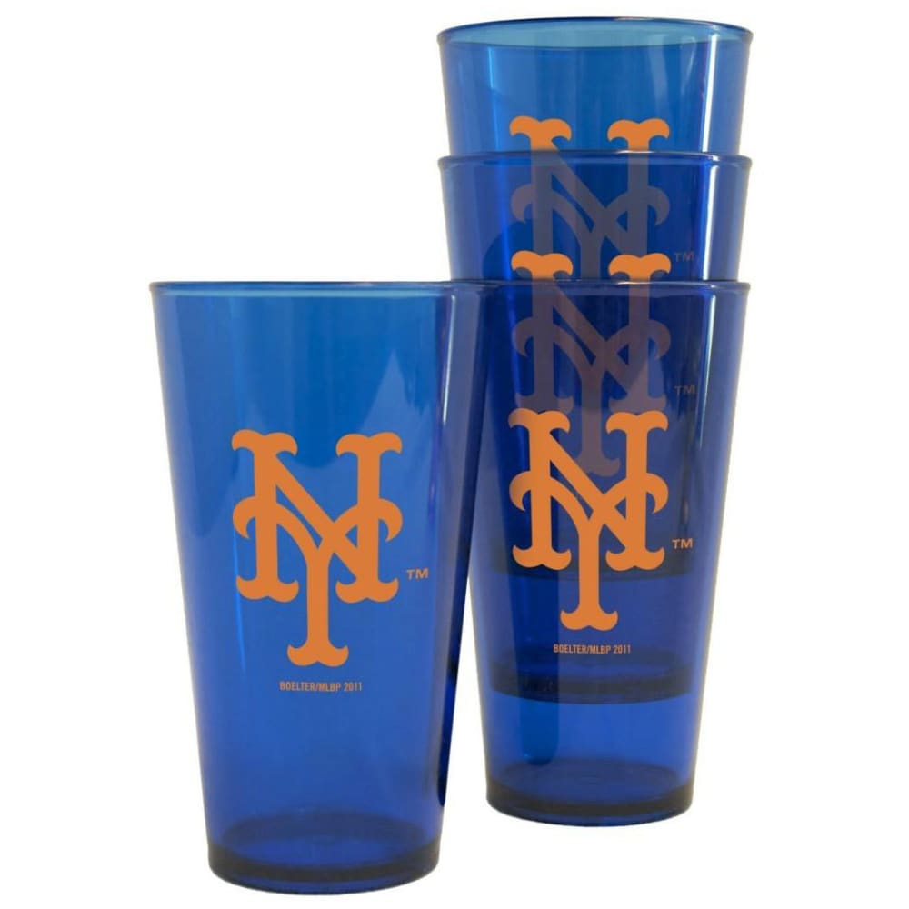 NEW YORK METS Plastic Pints, 4-Pack - ROYAL BLUE