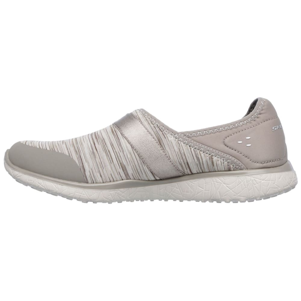 SKECHERS Women's Microburst – Greatness Shoe - TAUPE
