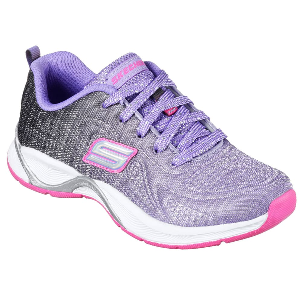 SKECHERS Girls' Hi Glitz – Flutterspark Sneakers - PURPLE