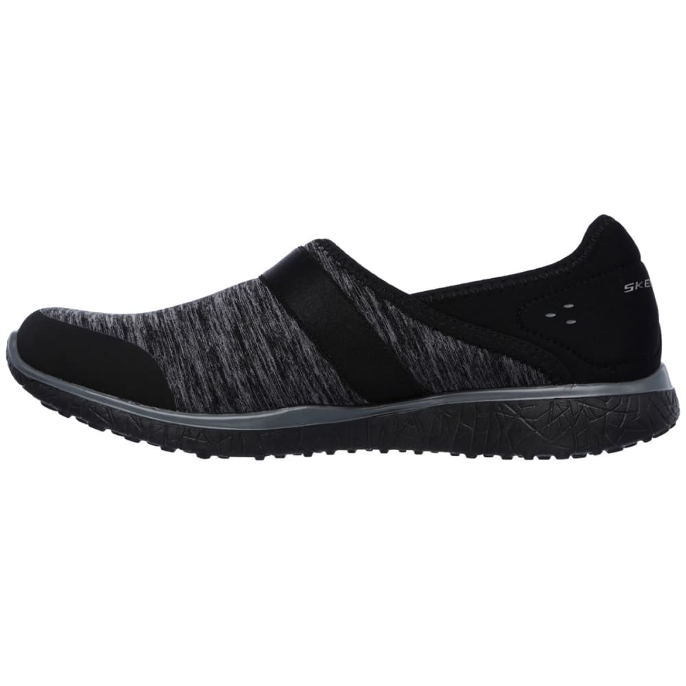 SKECHERS Women's Microburst – Greatness Shoe - BLACK