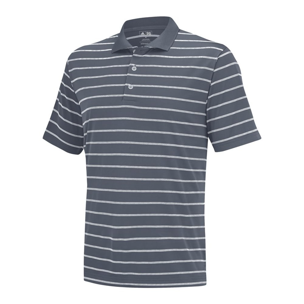TAYLORMADE Men's Puremotion 2-Color Striped Polo - LEAD/WHITE-Z87189