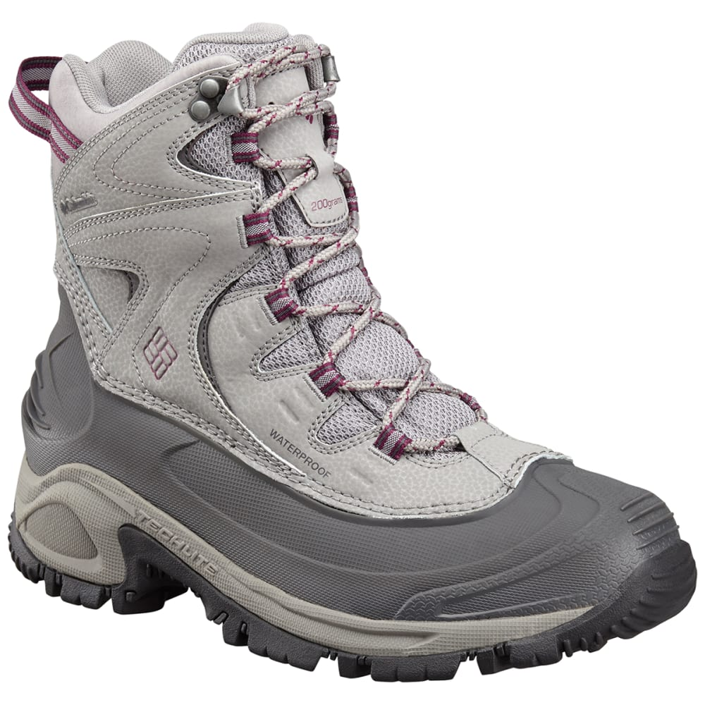 COLUMBIA Women's Bugaboot II Waterproof Boots - LIGHT GREY/DARK RASP