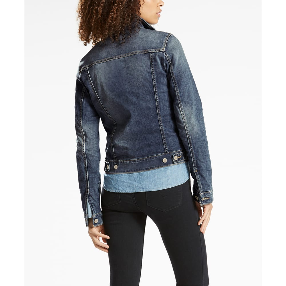 LEVI'S Women's Denim Trucker Jacket - 0073-BELLE BLUE
