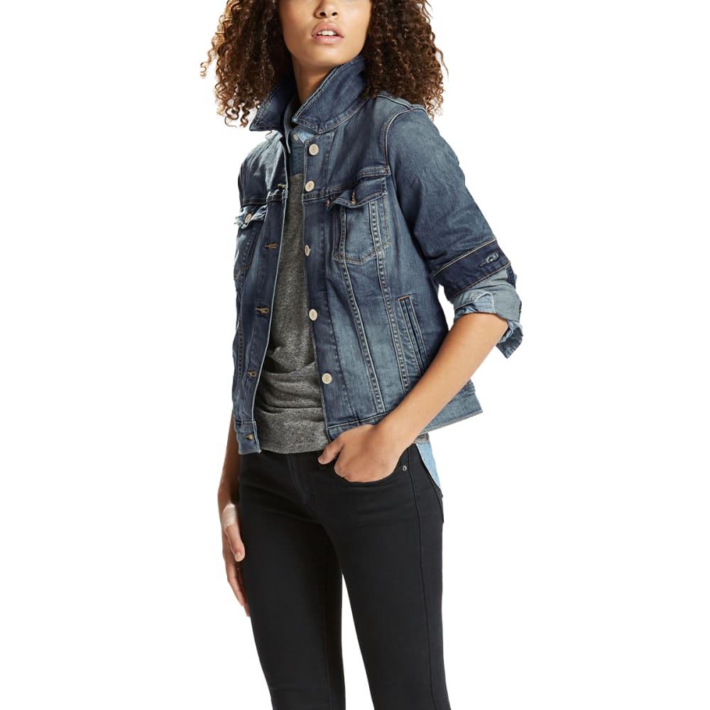 LEVI'S Women's Denim Trucker Jacket - 0073-BELLE BLUE