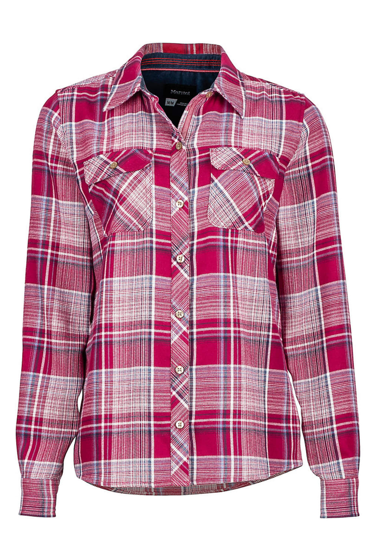 MARMOT Women's Bridget Flannel Shirt - 6817-RED DAHLIA