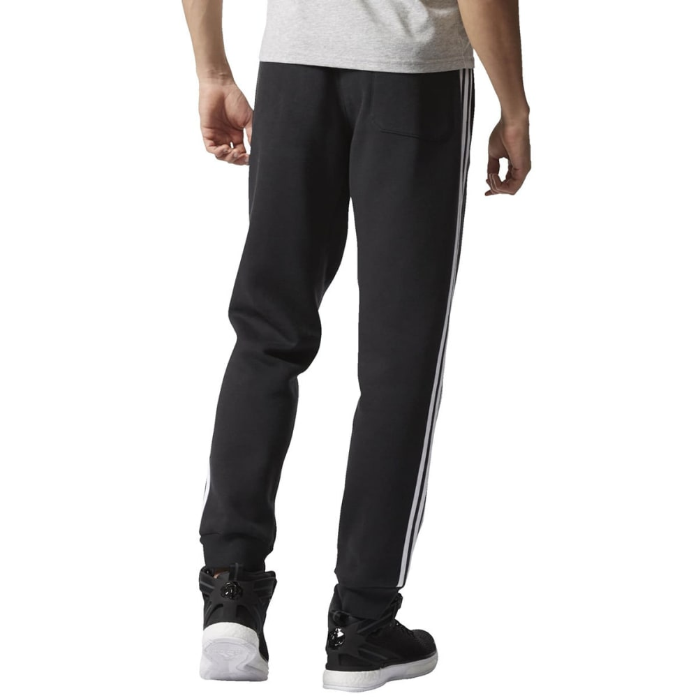 ADIDAS Men's Slim Sweat Pants - BLACK/WHITE-AP0422