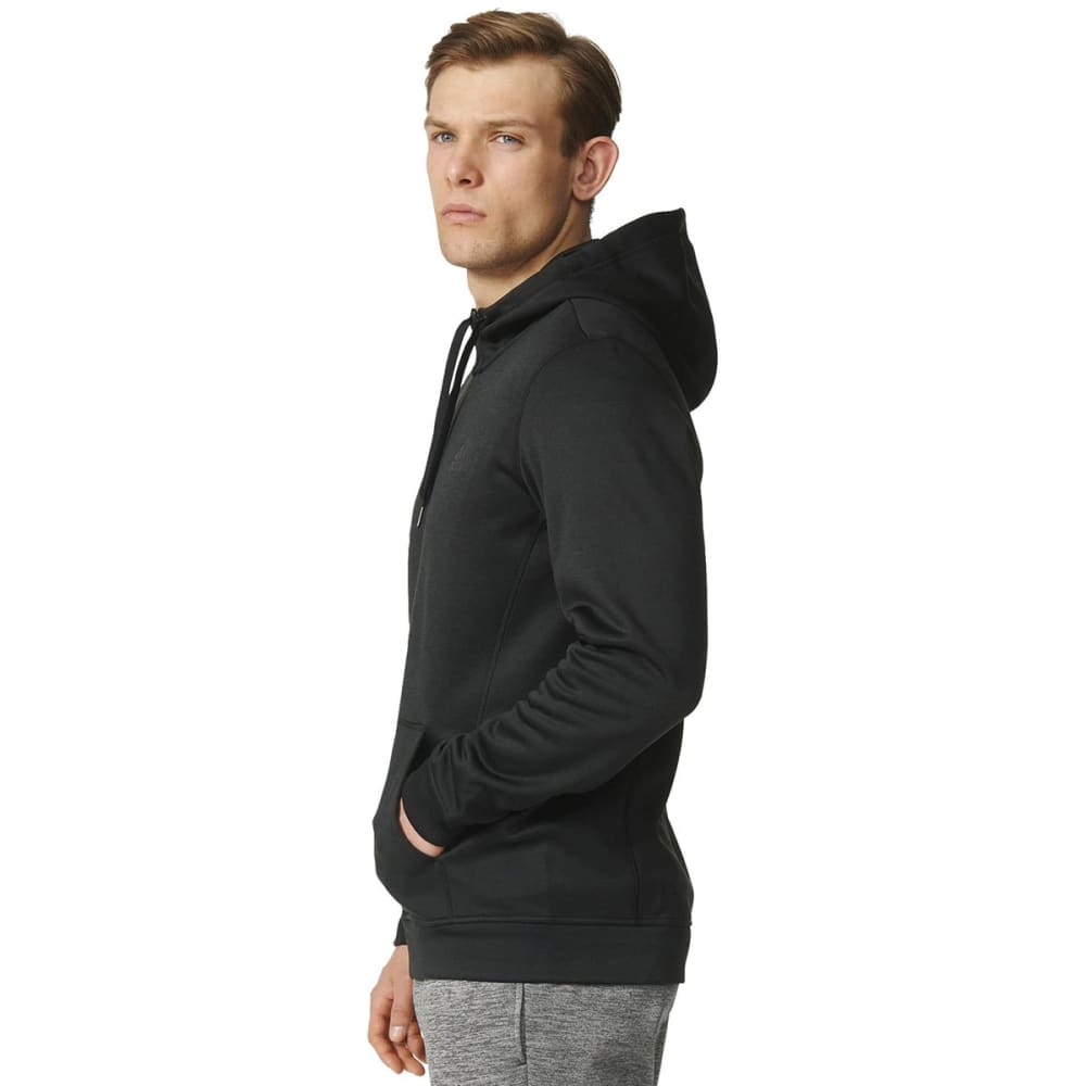 ADIDAS Men's Team Issue Fleece Full-Zip Hoodie - BLACK HEATHER-AY7451