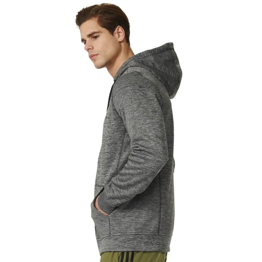 ADIDAS Men's Team Issue Fleece Full-Zip Hoodie - GREY HEATHER-AY7452