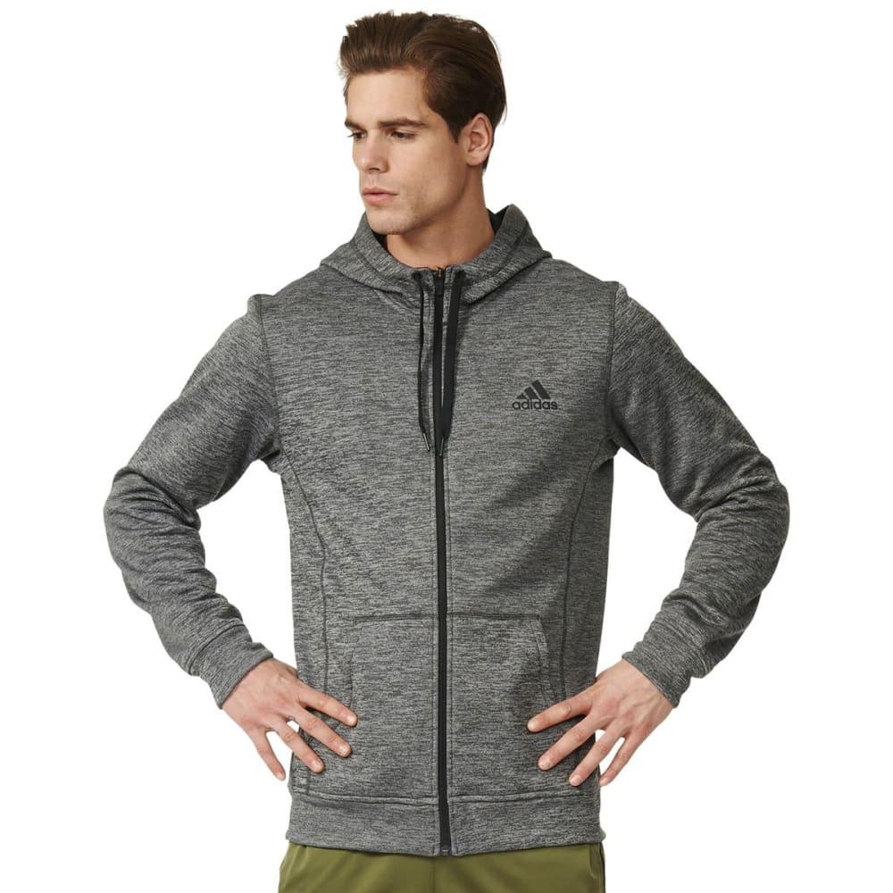 ADIDAS Men's Team Issue Fleece Full-Zip Hoodie - GREY HEATHER-AY7452