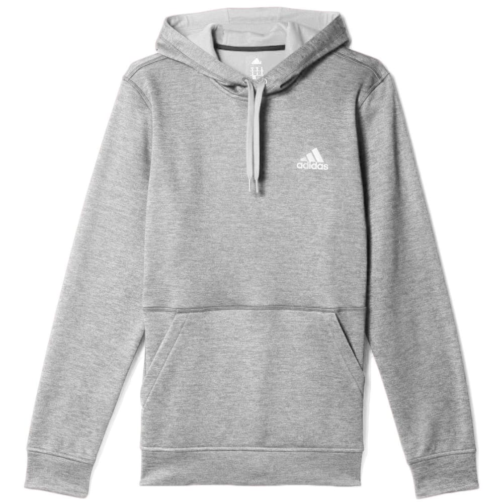 ADIDAS Men's Team Issue Fleece Pullover Hoodie - GREY HEATHER-S97409