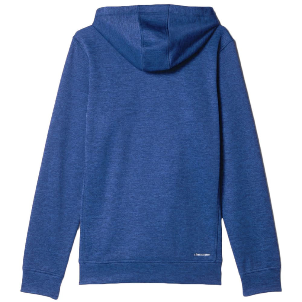 ADIDAS Men's Team Issue Fleece Pullover Hoodie - BLUE HEATHER-AY9555