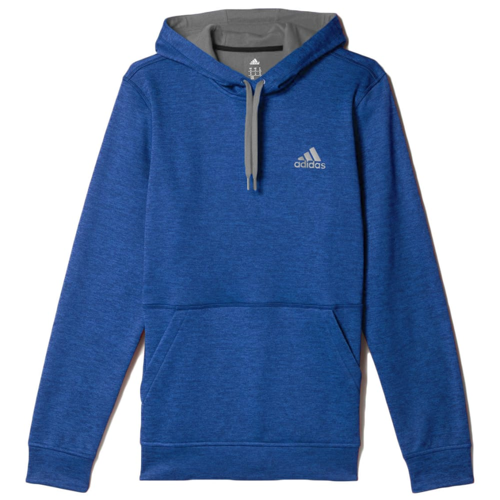 ADIDAS Men's Team Issue Fleece Pullover Hoodie - BLUE HEATHER-AY9555
