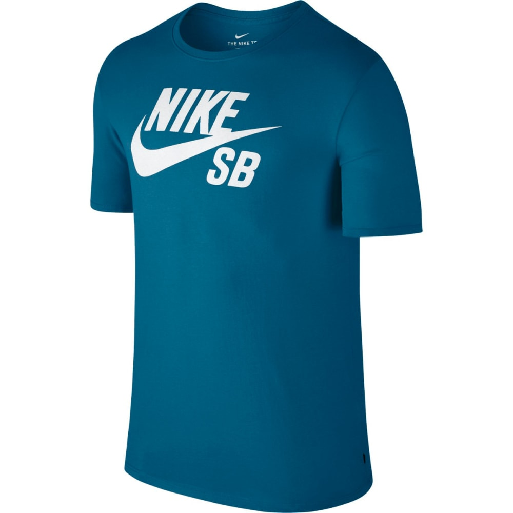 NIKE SB Men's Logo T-Shirt - INDUSTRL BLU/WHT-457