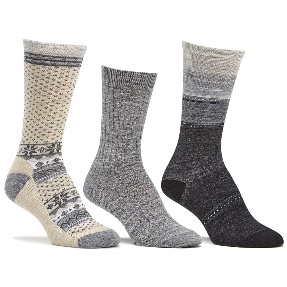 SMARTWOOL Women's Trio Sock Gift Set, Grey - LIGHT GREY HTR-883