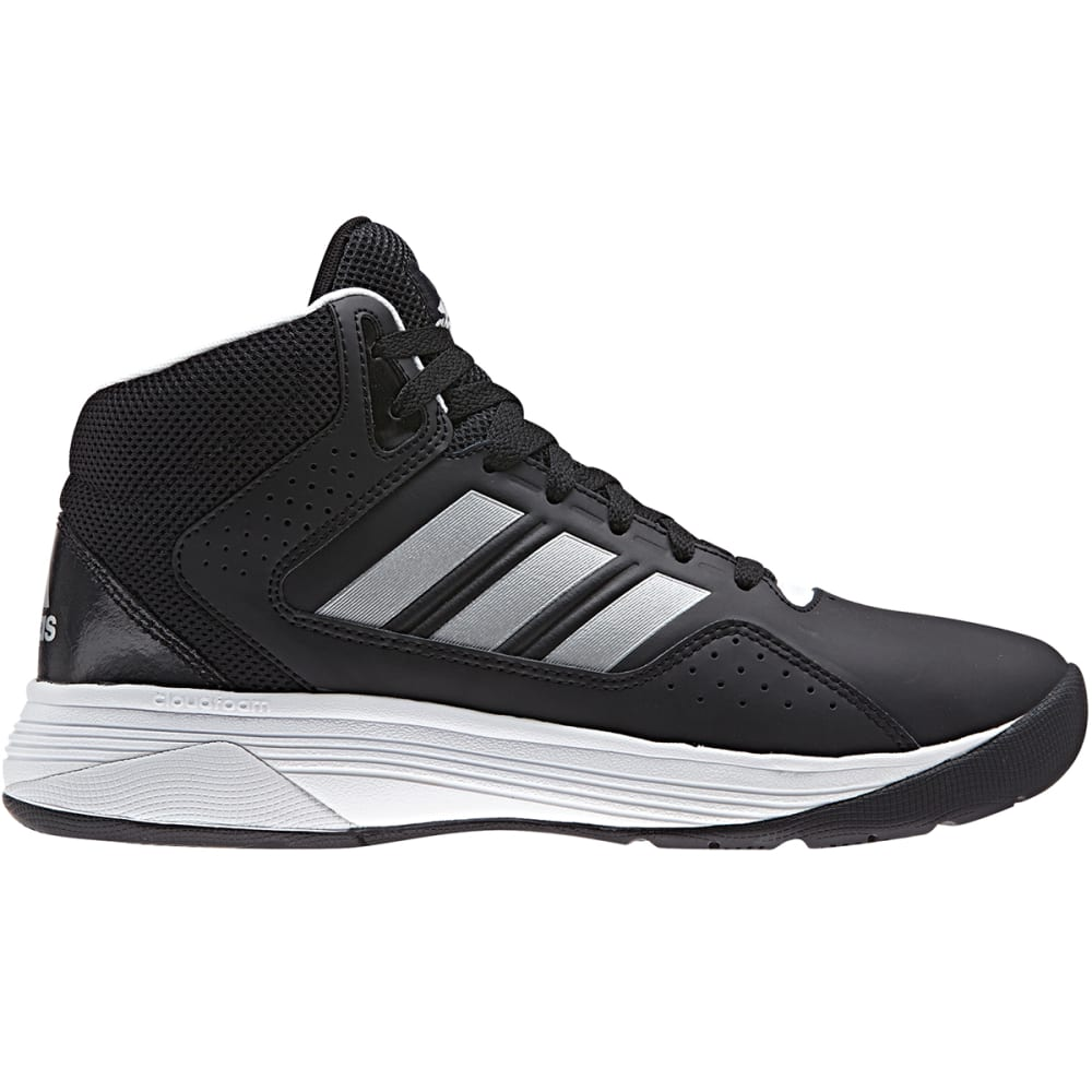 ADIDAS Men's Cloudfoam Ilation Mid Basketball Shoes, Black/Matte Silver, Wide - BLACK