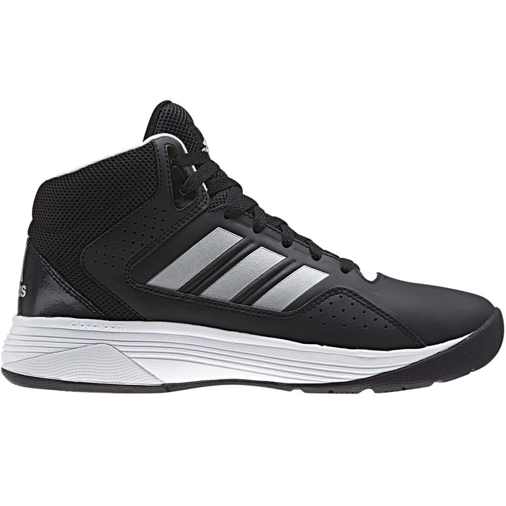 ADIDAS Men's Cloudfoam Ilation Mid Basketball Shoes, Black/Matte Silver, Wide - BLACK