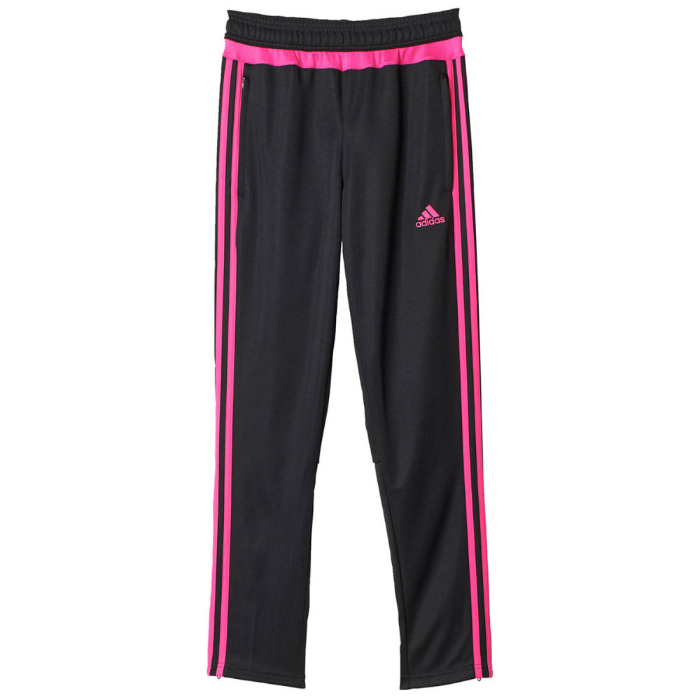 ADIDAS Girls' Tiro 15 Training Pants - BLK/PNK-AP0340