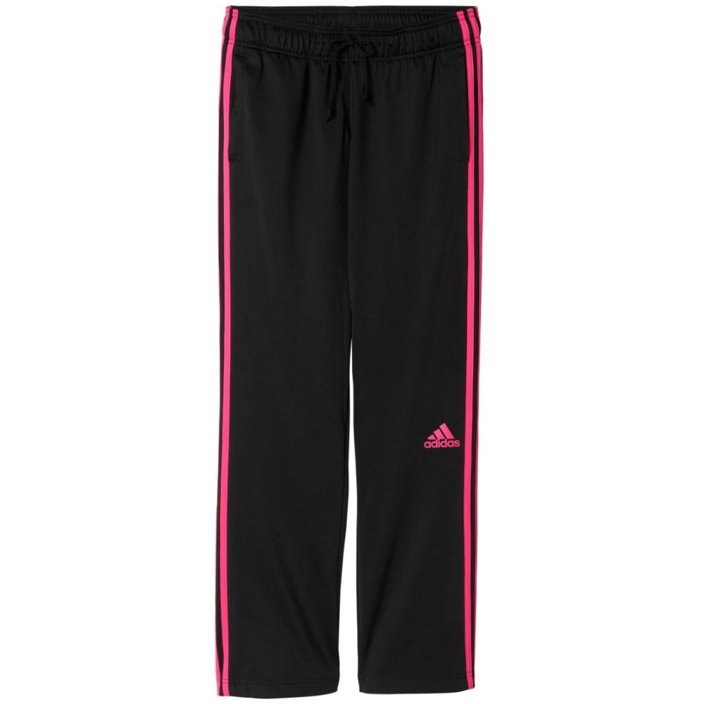 ADIDAS Women's 3 Stripes Pants - BLK/SHOCK PNK-AX7942