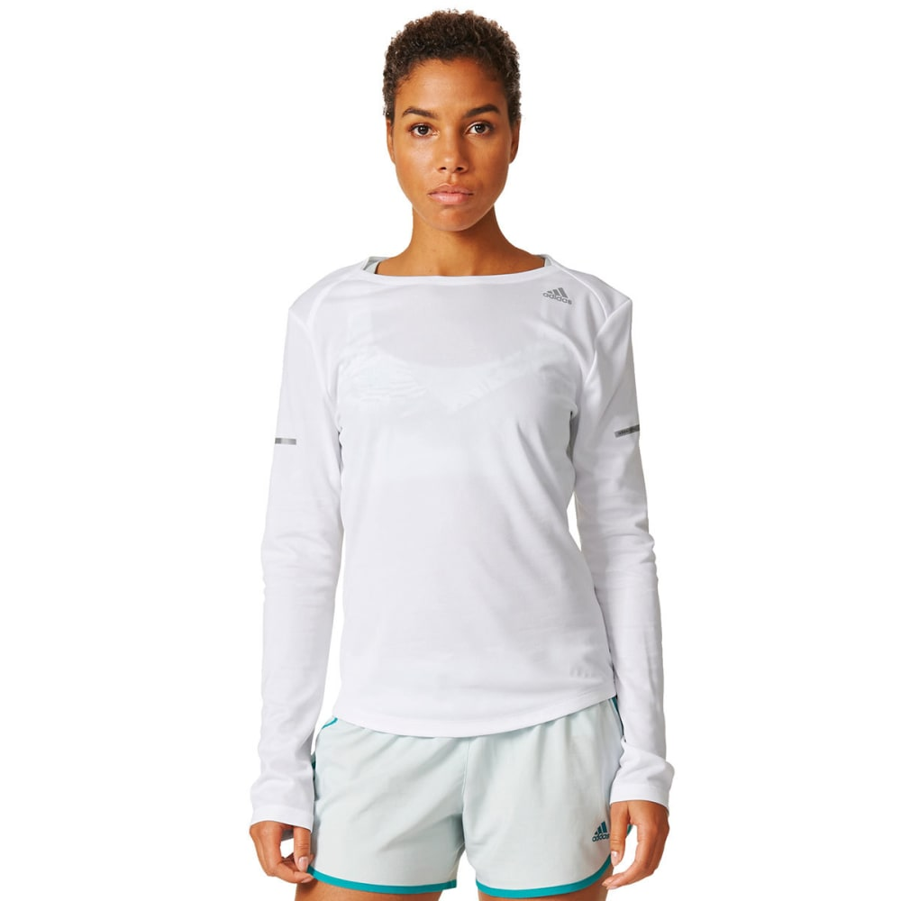 ADIDAS Women's Running Long-Sleeve Shirt - WHITE-AX7509