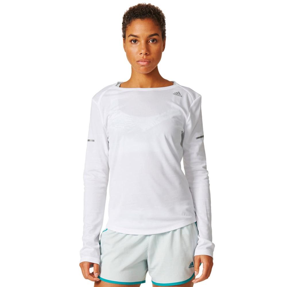 ADIDAS Women's Running Long-Sleeve Shirt - WHITE-AX7509