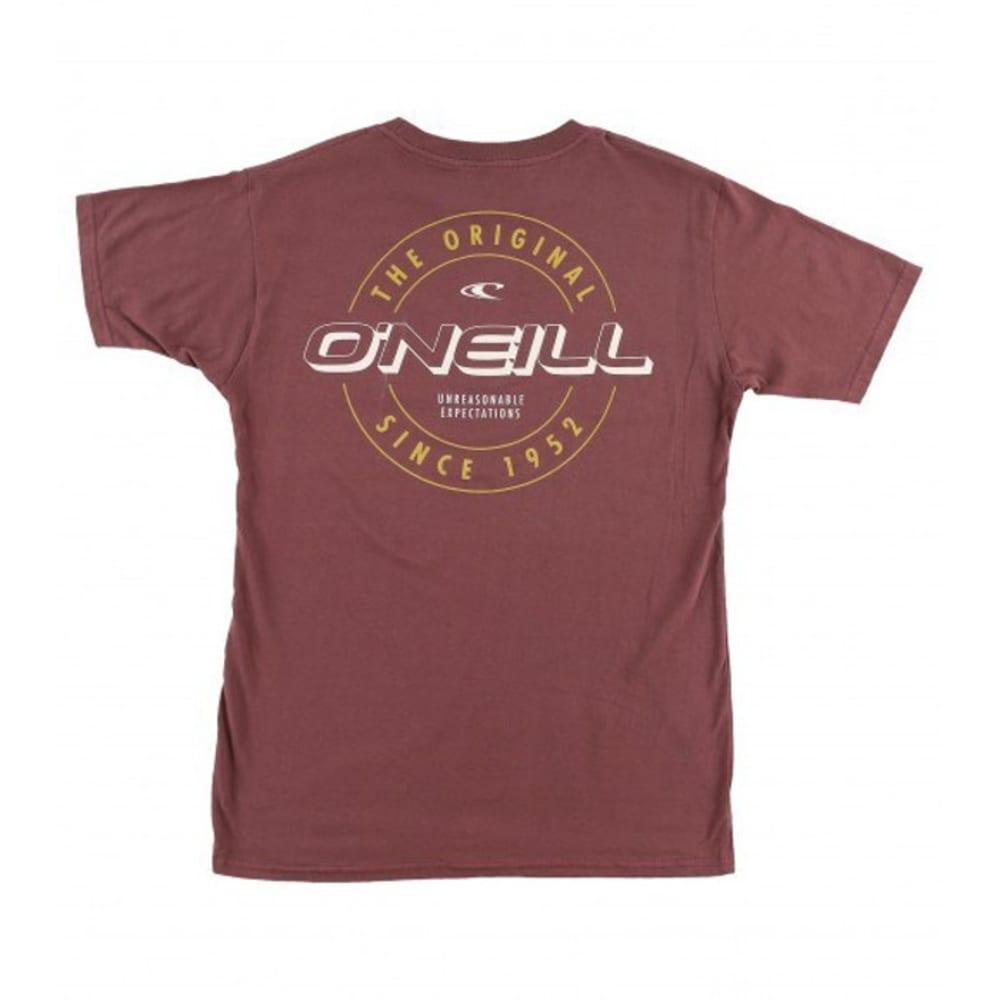 O'NEILL Guys' Factor Short-Sleeve Tee - BURGUNDY-BUR