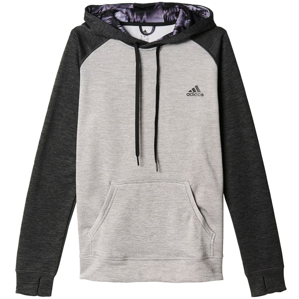 ADIDAS Women's Team Issue Fleece Pullover Hoodie - LGH/BLK HTHR-AY3581