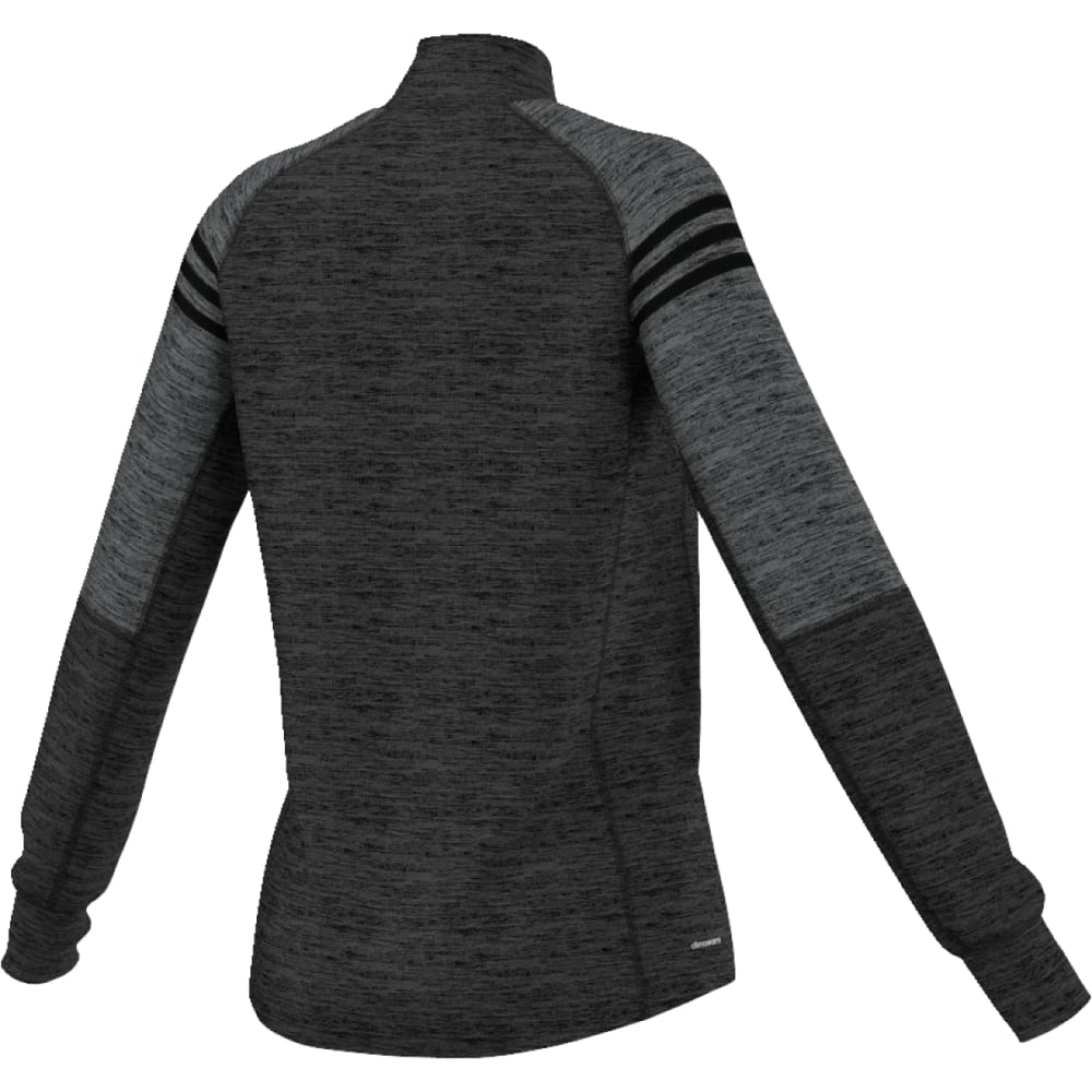 ADIDAS Women's Team Issue ¼-Zip Fleece Pullover - DGH/BLK-AY7654