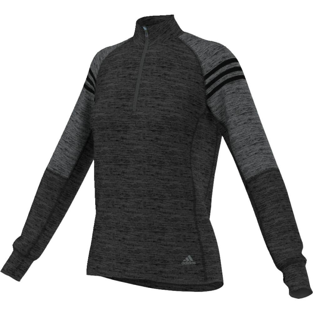 ADIDAS Women's Team Issue ¼-Zip Fleece Pullover - DGH/BLK-AY7654