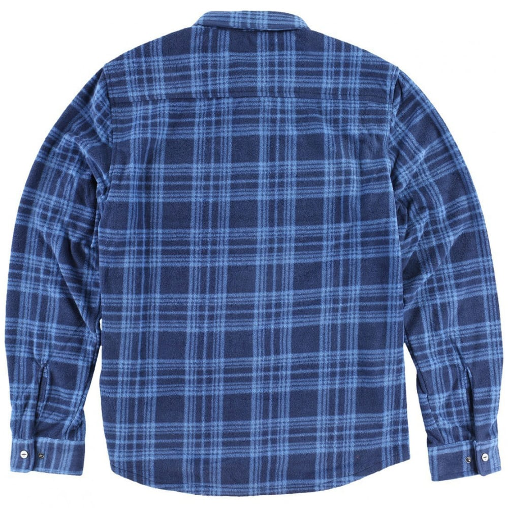 O'NEILL Guys' Glacier Plaid Long Sleeve Super Fleece Shirt - BLUE-BLU