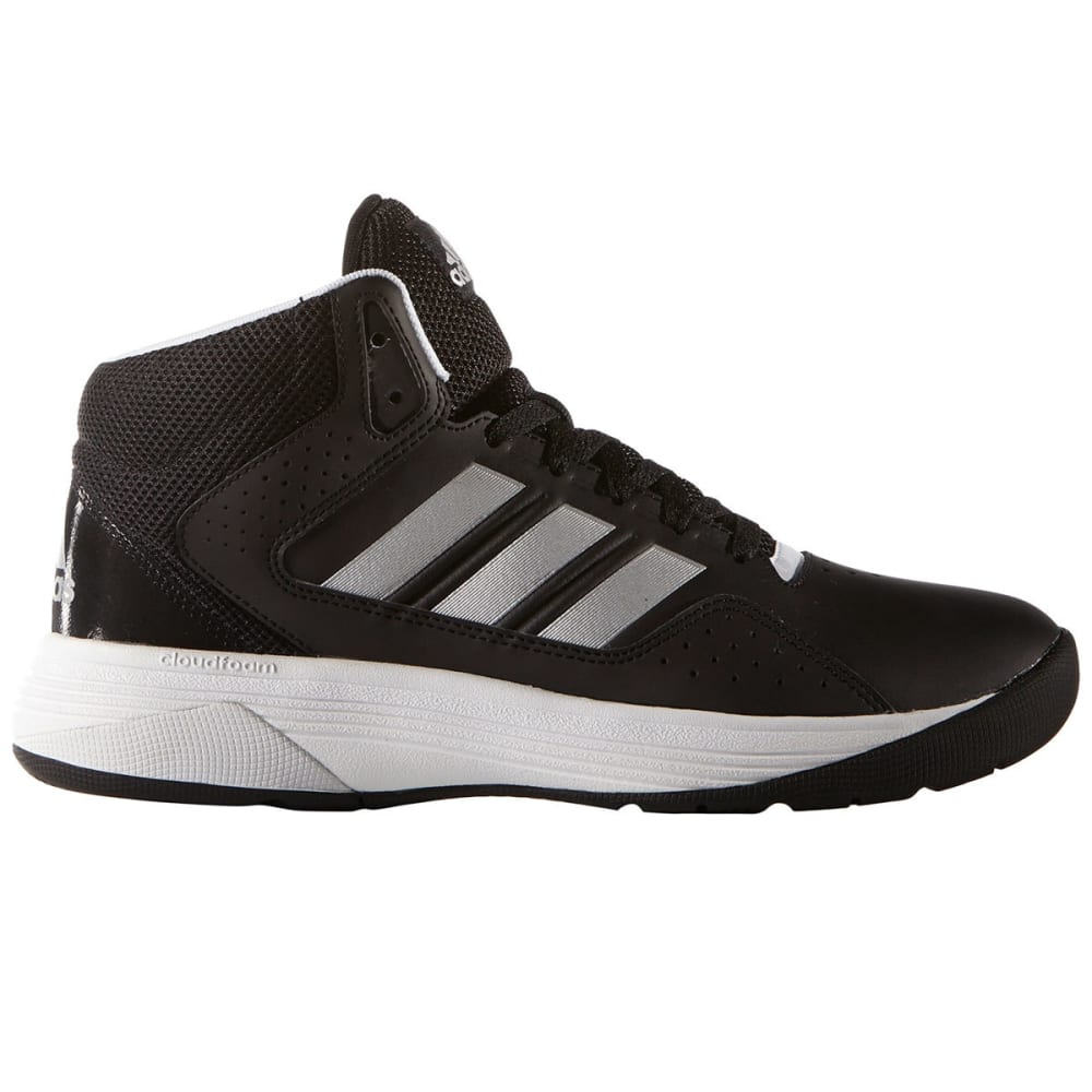 ADIDAS Men's Cloudfoam Ilation Mid Basketball Shoes, Black/Matte Silver - BLACK