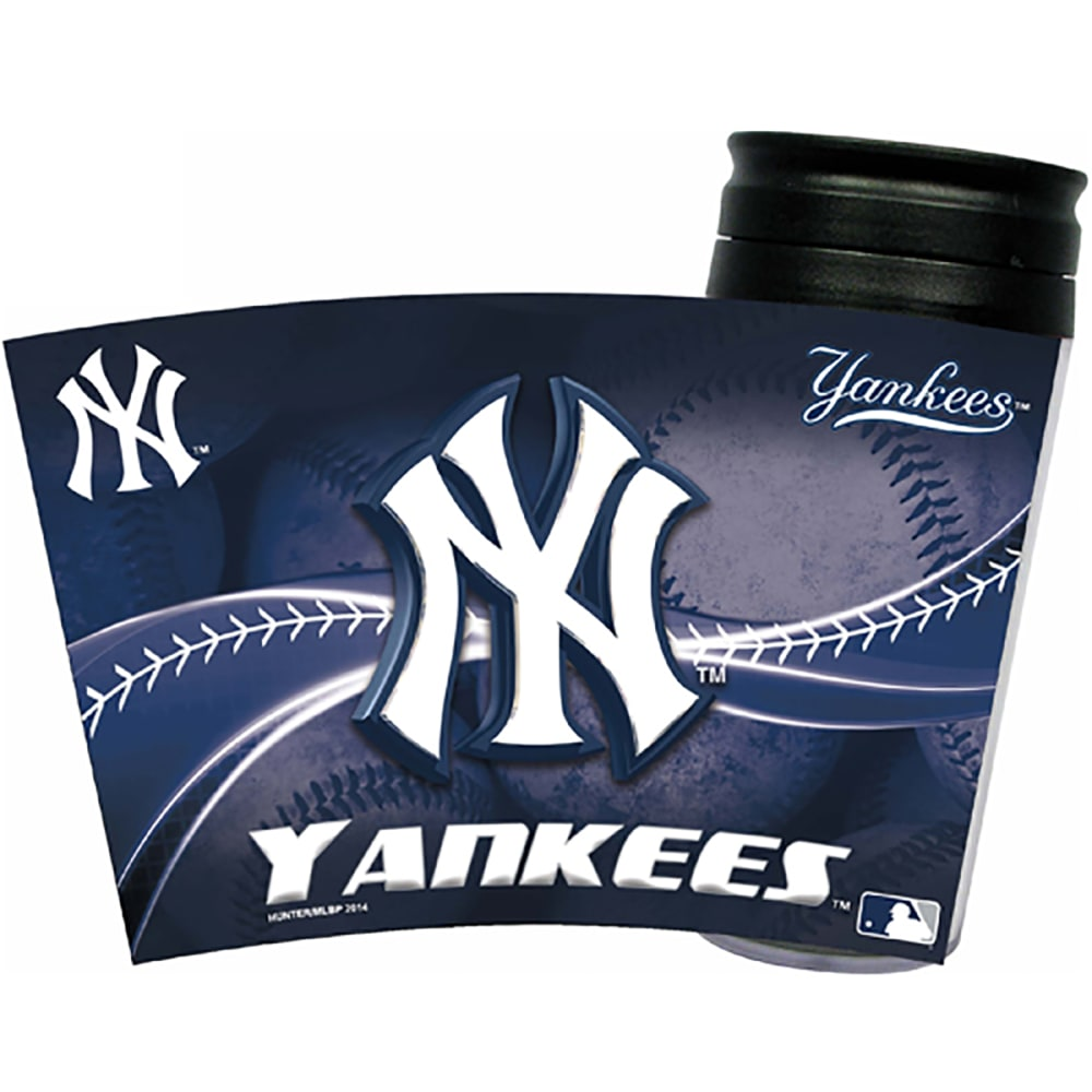 NEW YORK YANKEES Acrylic Tumbler W/ Wrap Insert - NAVY