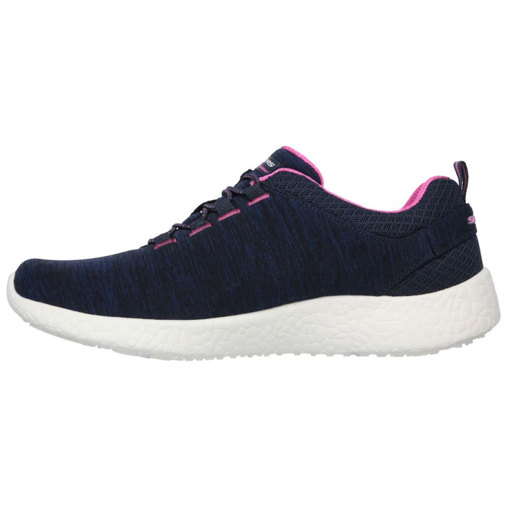 SKECHERS Women's Burst – Equinox Sneakers - NAVY/HOT PINK