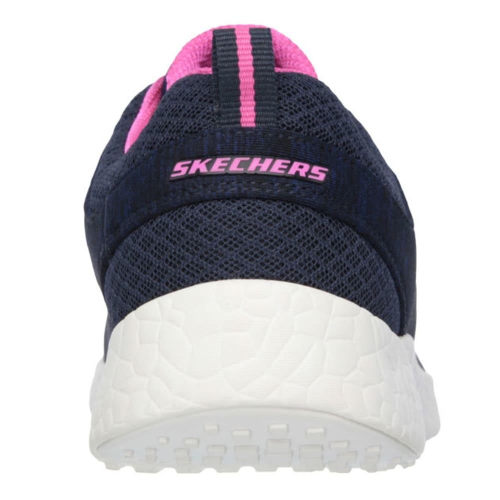 SKECHERS Women's Burst – Equinox Sneakers - NAVY/HOT PINK