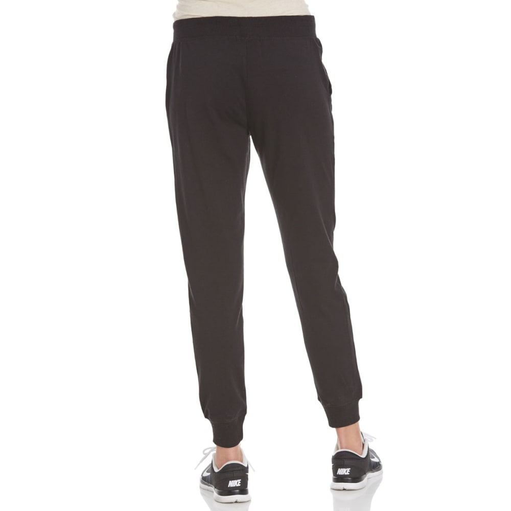AMBIANCE Juniors' French Terry Joggers - BLACK