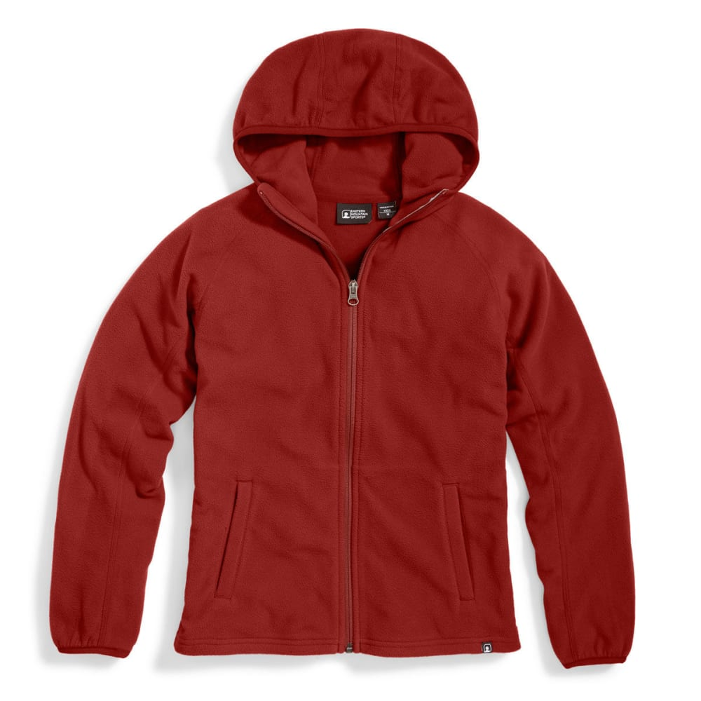 Ems(R) Boys' Classic Micro Fleece Hoodie - Red, M