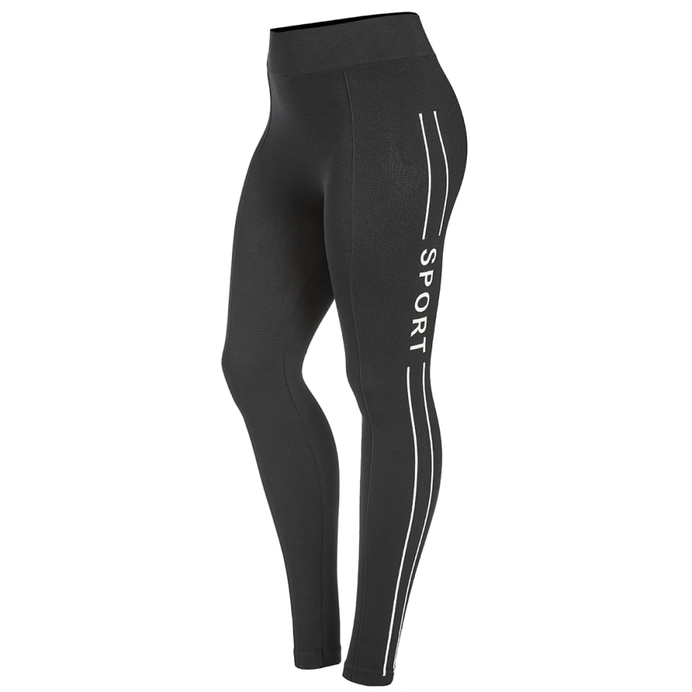 POOF Juniors' Seamless Sport Leggings - BLACK