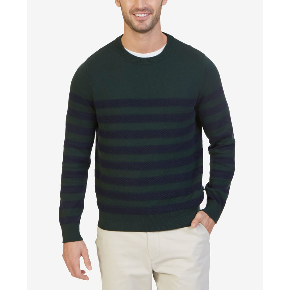 NAUTICA Men's Breton Striped Crewneck Sweater - KELP SEAS 3KS