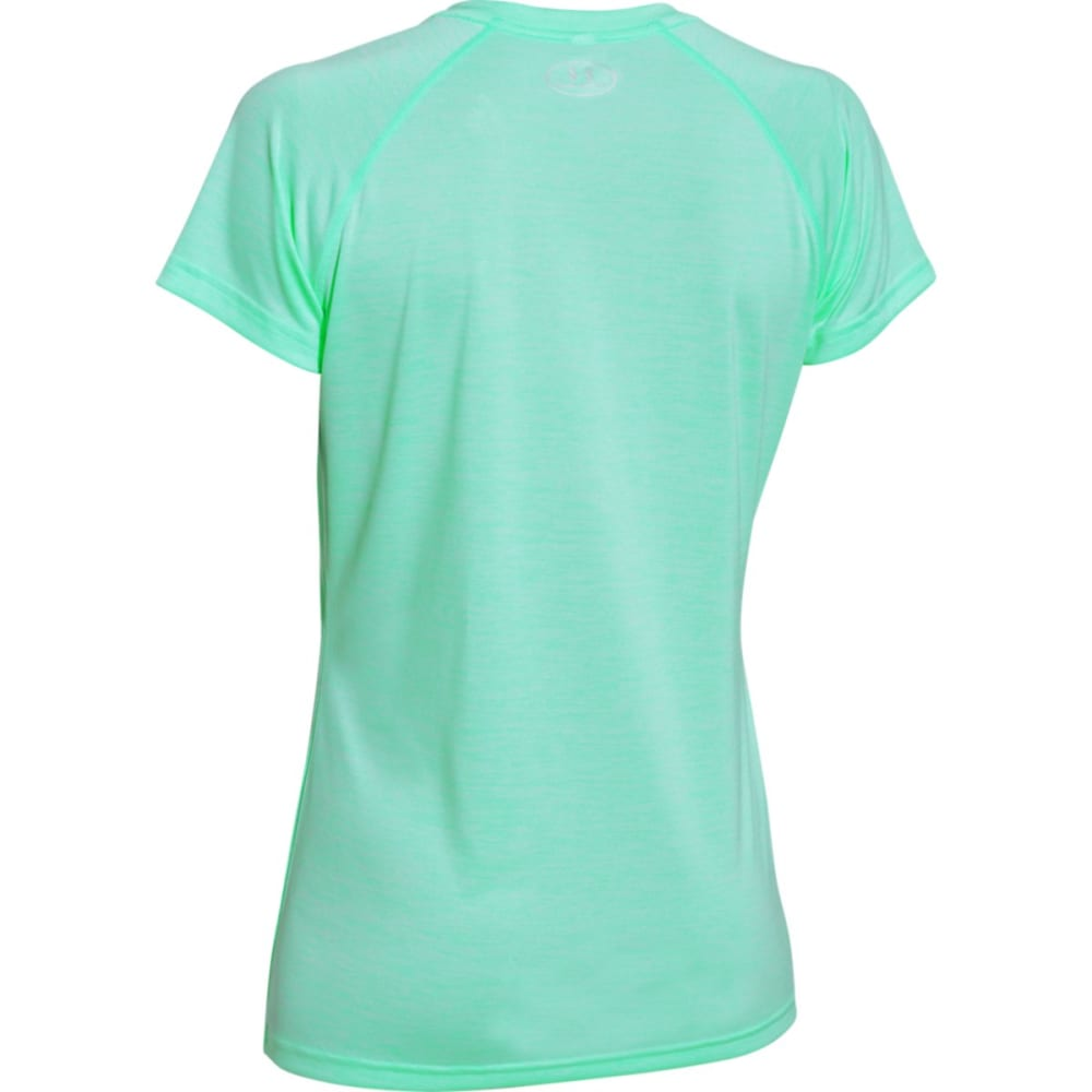 UNDER ARMOUR Women's Tech Twist V-Neck Tee - CRYSTAL