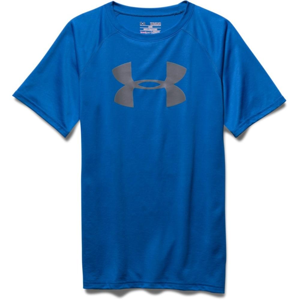 UNDER ARMOUR Boys' Big Logo Tee - BR BLUE/GRY-40