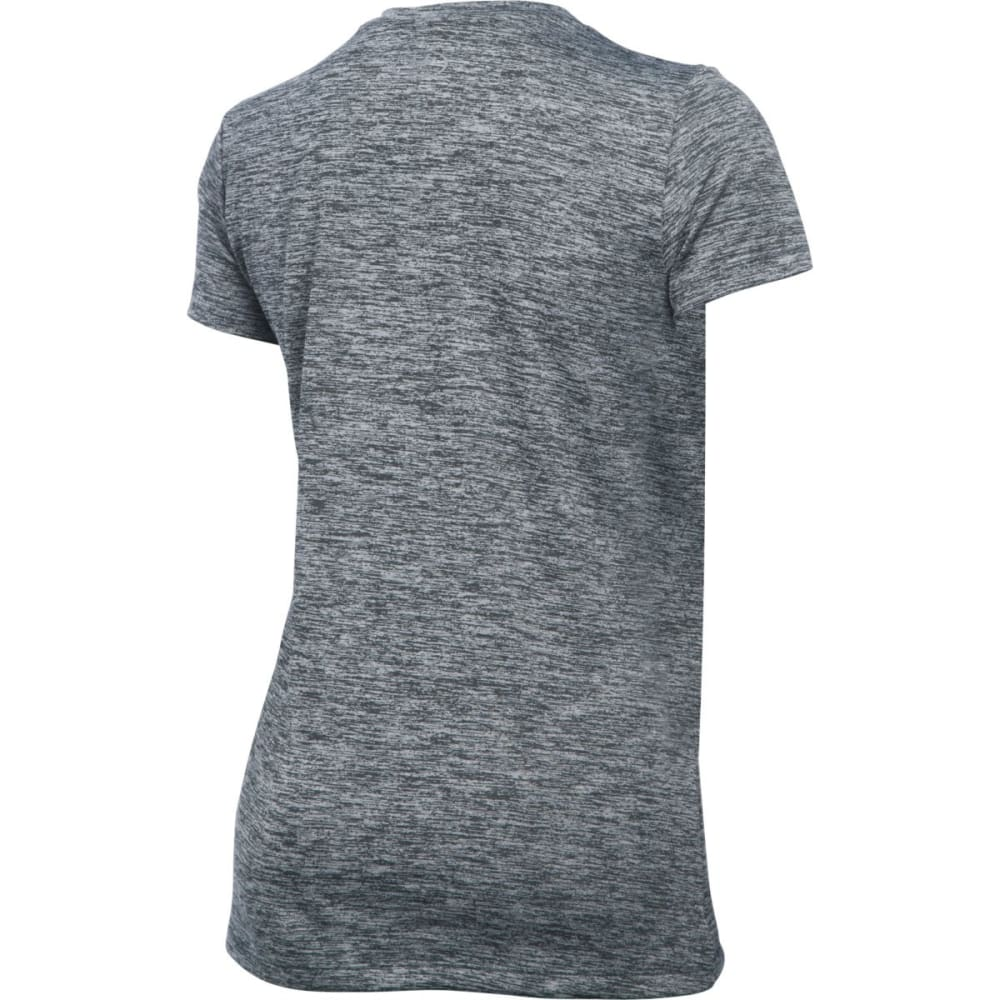 UNDER ARMOUR Women's Tech Twist V-Neck Tee - STEALTH-008