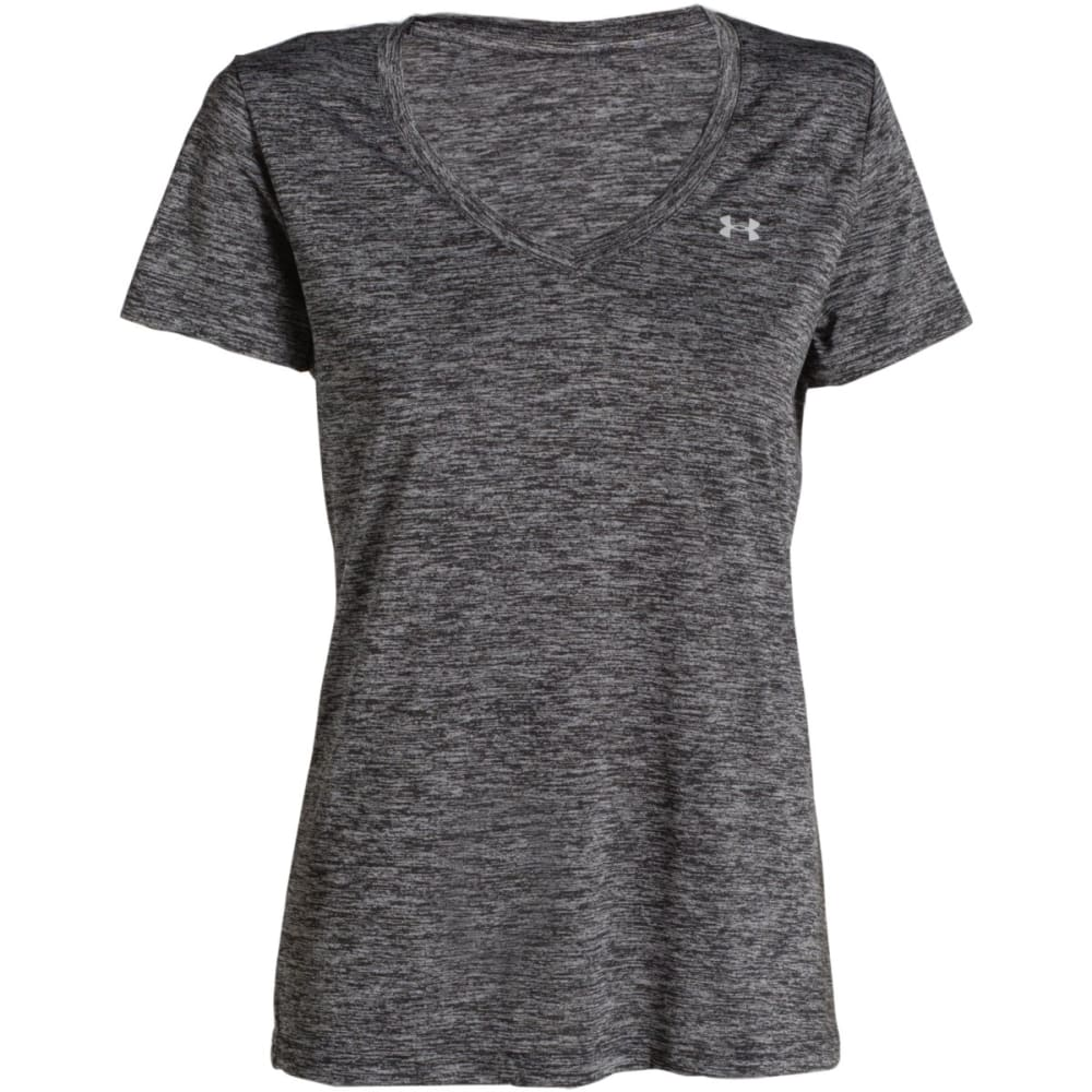 UNDER ARMOUR Women's Tech Twist V-Neck Tee - BLACK-001