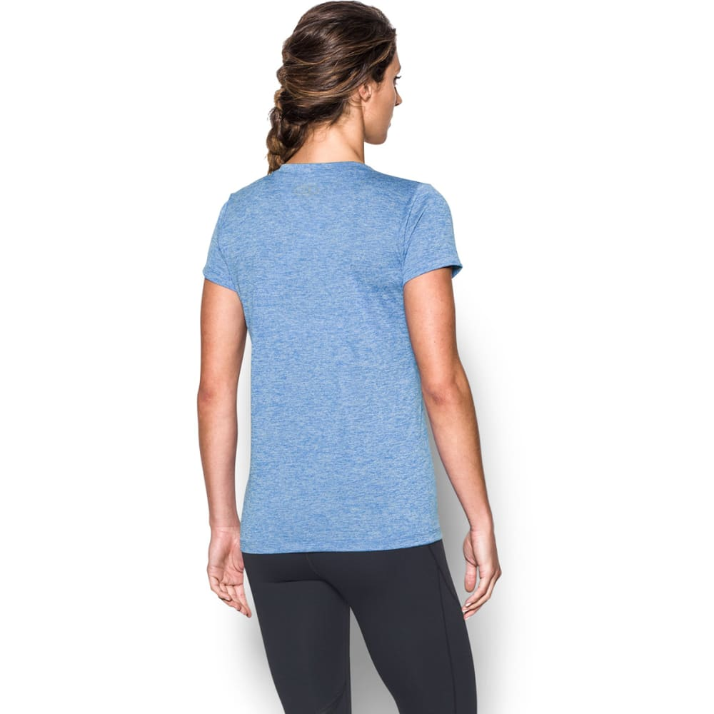 UNDER ARMOUR Women's Tech Twist V-Neck Tee - MEDITERRANEAN-437