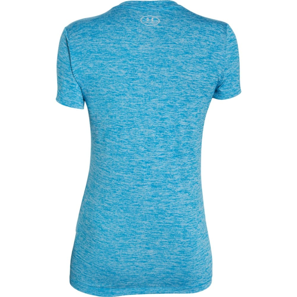 UNDER ARMOUR Women's Tech Twist V-Neck Tee - DYNAMO BLUE-913