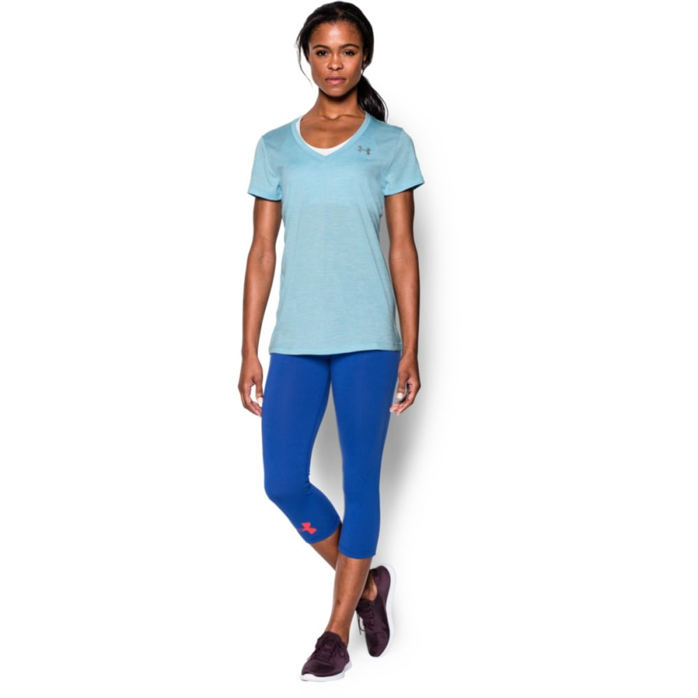 UNDER ARMOUR Women's Tech Twist V-Neck Tee - SKY BLUE-914