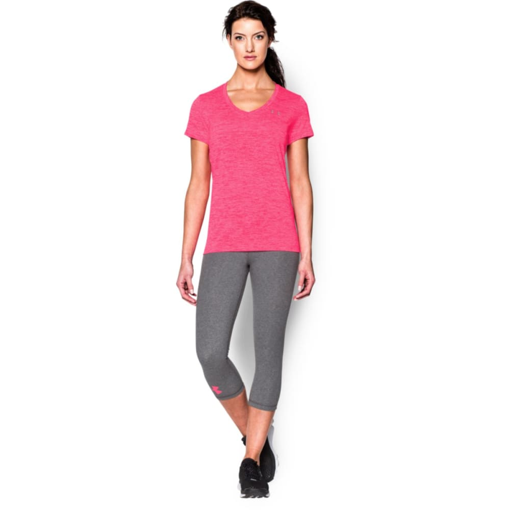 UNDER ARMOUR Women's Tech Twist V-Neck Tee - HARMONY RED-963