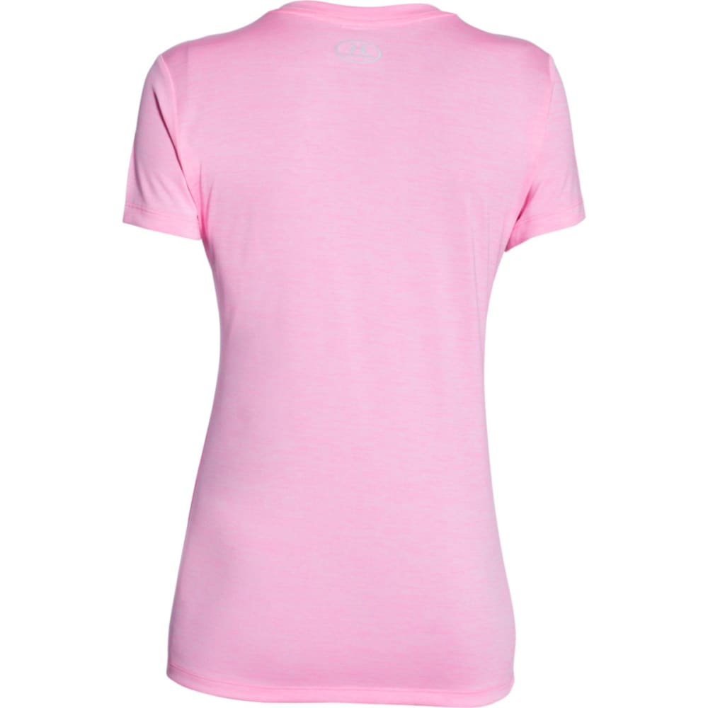 UNDER ARMOUR Women's Tech Twist V-Neck Tee - PINK CRAZE-645
