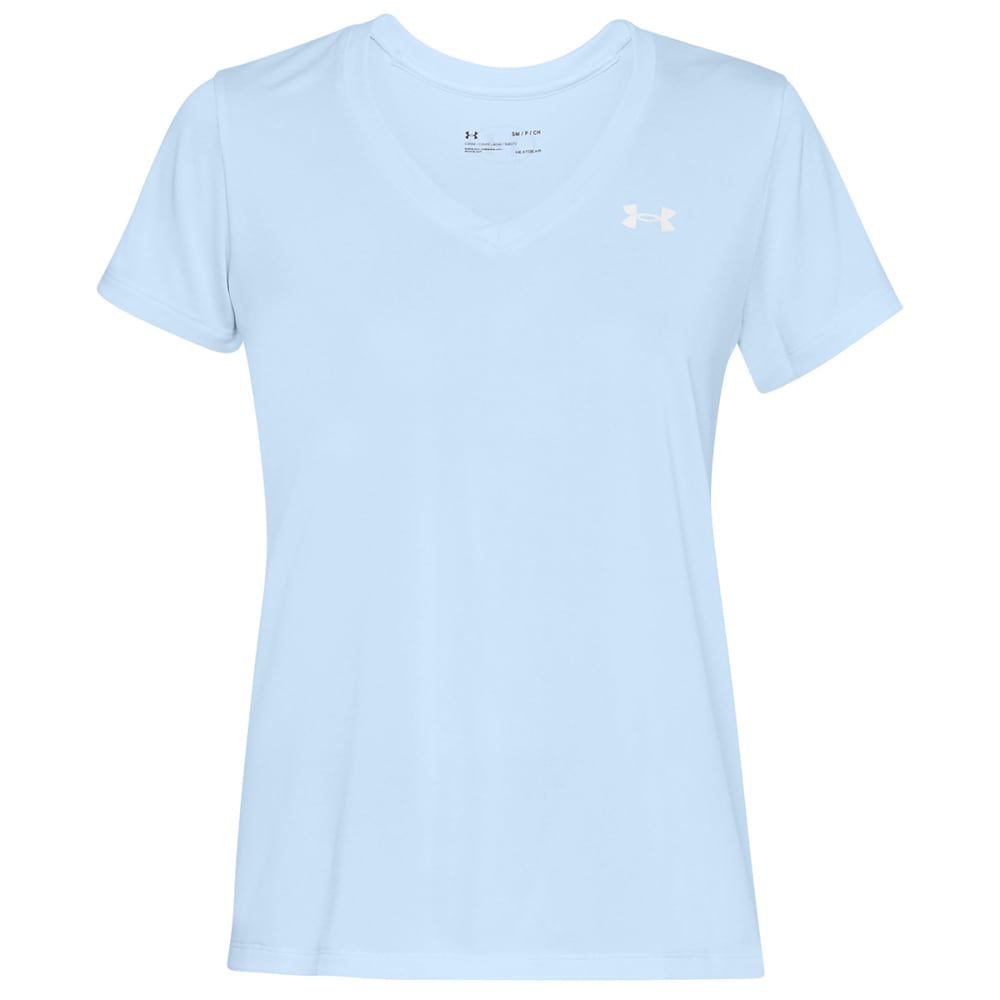 UNDER ARMOUR Women's Tech Twist V-Neck Tee S