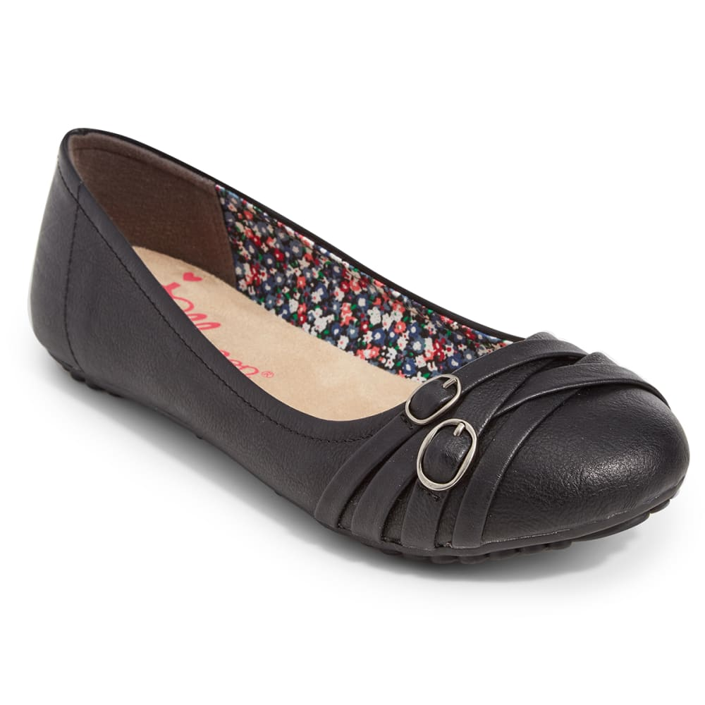 JELLYPOP Juniors' Express Ballet Flats, Wide - BLACK