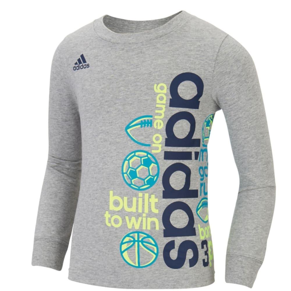 Adidas Boys Linear Wrap Long-Sleeve Tee - Black, 4